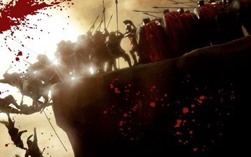 кровь, бой, 300 спартанцев