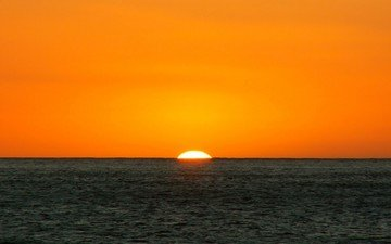 закат, пейзаж, море