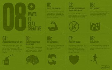 the inscription, minimalism, creative, 8 ways to stay creative