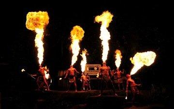 fire, show, night sfari, singapore