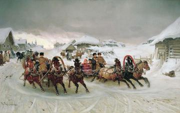 winter, holiday, peter n. georgian, three