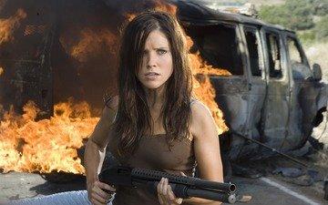 girl, fire, the film, the explosion, sophia bush, companion, the hitcher
