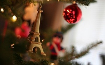 новый год, елка, обои, украшения, настроение, макро, фото, игрушки, праздник, иголки, огоньки, елочные