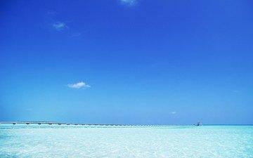 небо, горизонт, океан