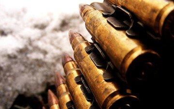 weapons, cartridges, machine-gun tape, large caliber