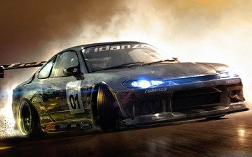 game, nissan, racedriver grid, silvia, gamer