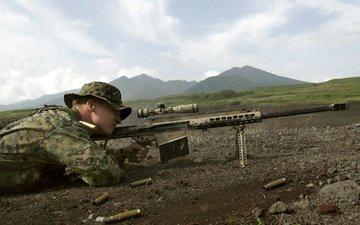 sniper, rifle, sight, barrett