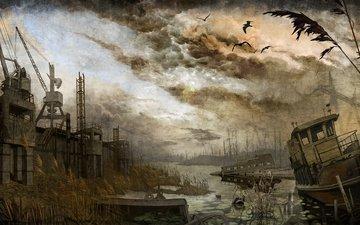 ships, panorama, stalker
