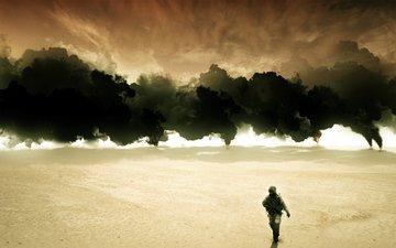 war, iraq, torches, oil