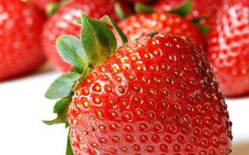 макро, ягода, клубника