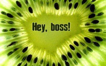 зелёный, киви, boss!, эй