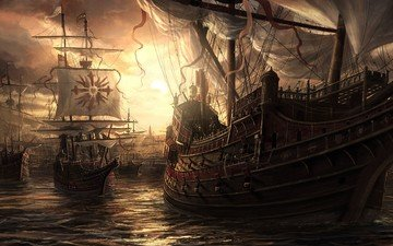 sea, navy, ships