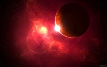 космос, планета, свечение