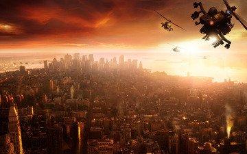 вертолет, прототип, нью - йорк