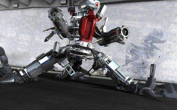 weapons, robot, 3d