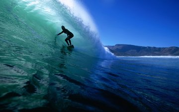 wave, the ocean, surfing, surfer
