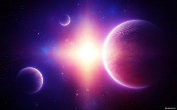 солнце, космос, планеты, звезда