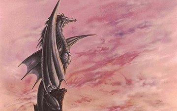 дракон, белый