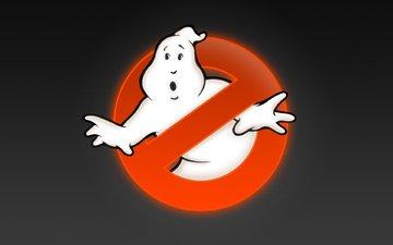 фон, лого, знак, охотники за привидениями