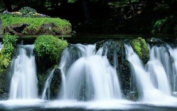 водопад, япония, японии, хоккайдо