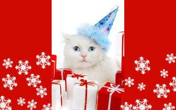 новый год, подарки, снежинка, с новым годом