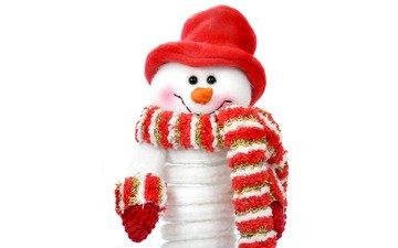 новый год, снеговик