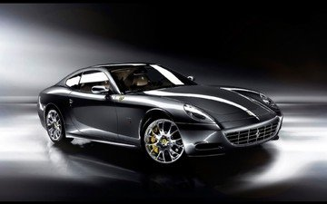 black, ferrari, sports car, staglietti, one to one