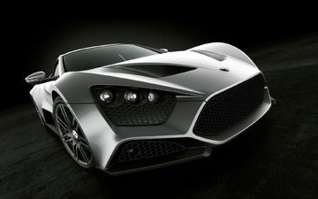 silver, sports car, st1, zenvo