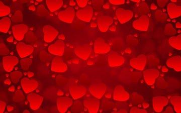текстура, сердечки, красный фон