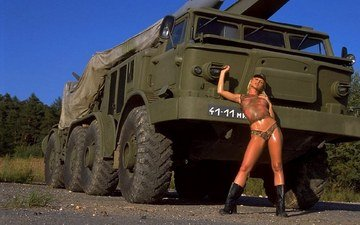 girl, machine, form, soldiers, military equipment, silvia saint