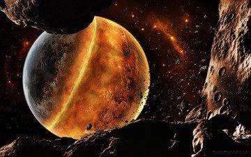 обломки, метеориты, катастрофа