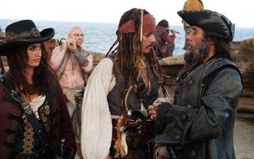 the film, johnny depp, pirates, jack sparrow, pirates of the caribbean 4, angelica, penelope cruz