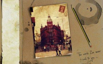 фото, люди, города, слова, человек, карандаши, буквы, дома, улица, креатив, путешествия, разное, улицы, фраза, фразы, путешествие