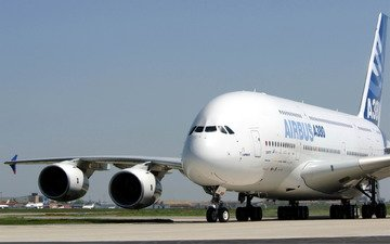 the plane, giant, airbus, a380