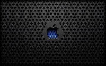 текстура, мак, яблоко, сталь, эппл
