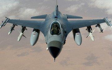 обои, самолет, пилот, истребитель, сша, многоцелевой, ввс, ракеты, сокол, бомбы, сражающийся сокол, f-16и, бои