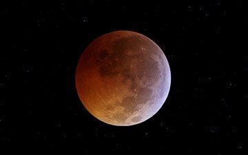 космос, звезды, луна, затмение