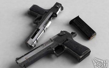 пистолет, патроны, магазин