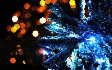 огни, новый год, елка, обои, настроение, фото, волшебство, гирлянды, картинка, праздник