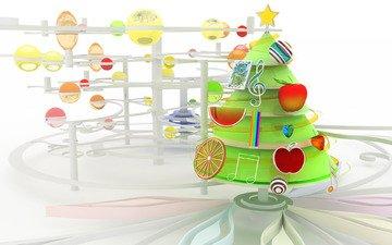 новый год, зима, игрушки