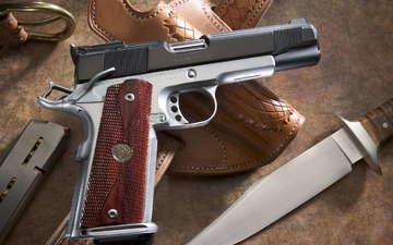 пистолет, нож, магазин, чехол