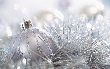 новый год, обои, настроение, фон, картинка, шарик, праздник, рождество, украшение, мишура, мерцание, елочное