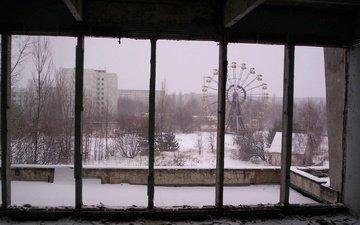 окно, решетка, чернобыль, припять, мертвый город