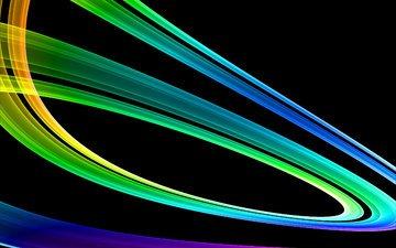 линии, вектор, радуга, градиент