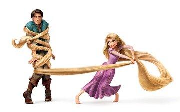 girl, rapunzel, hair, prince