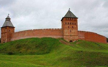 обои, кремль, город, башня, россия, великий новгород, древний город, детинец