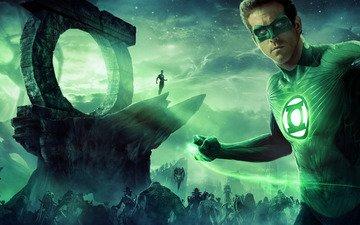 космос, звезды, планета, монстры, супергерой, раян рейнолдс, зелёный фонарь, райан рейнольдс, рейнольдс рейнольдс