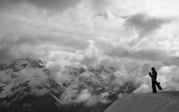 горы, сноуборд, сноубординг