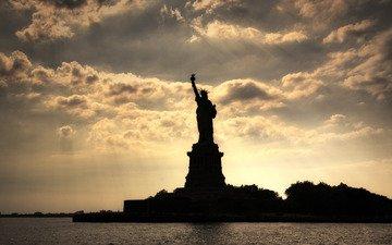 нью-йорк, статуя свободы, statue of liberty, нью - йорк