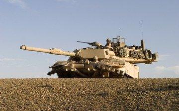 пустыня, танк, камуфляж, антенна